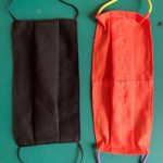 Тканевая маска для лица (прямоугольник) – техника ручной вышивки